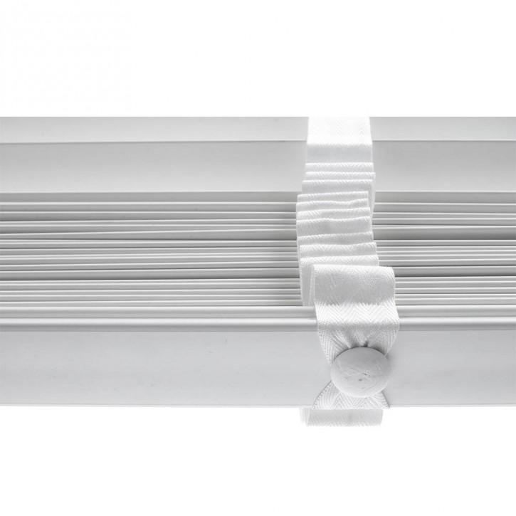 Żaluzja Faux Wood Biała 50mm z Białą Taśmą - 85x240cm, Promocja