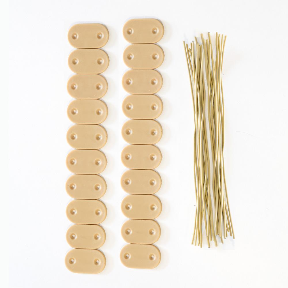 Zestaw elementów mocujących do mat PVC, Bambus