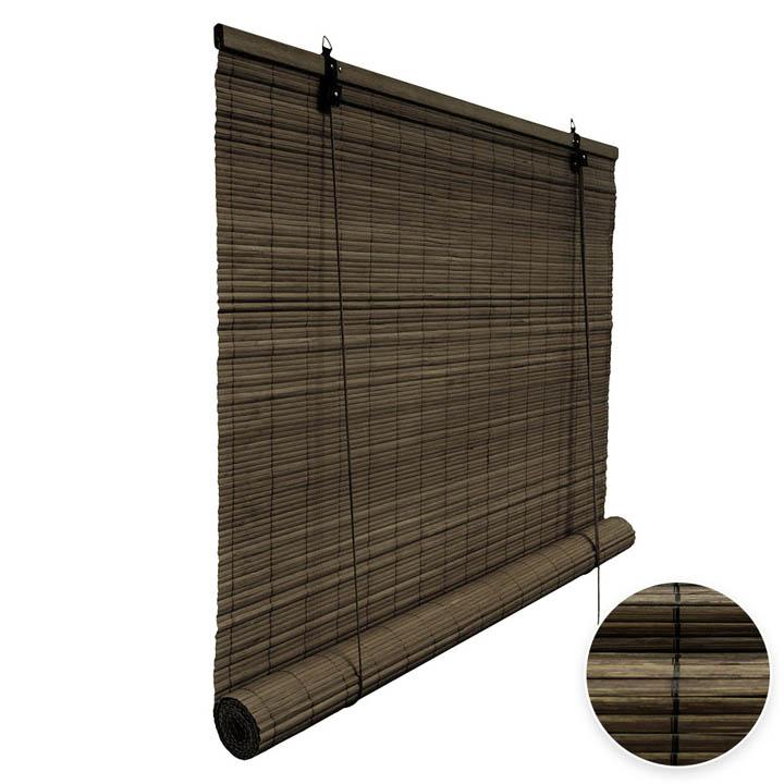 Roleta bambusowa, Gotowa, Ciemnobrązowy
