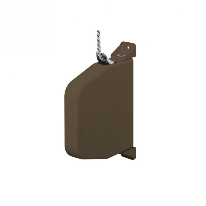 Miniaturowy, uchylny zwijacz do montażu natynkowego, z linką o dł. 5 m