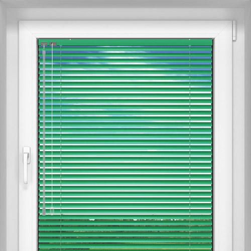 Żaluzja aluminiowa, 25 mm, Na wymiar, Zielony