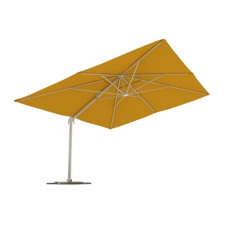 Parasol Na Wysięgniku, Prostokątny, 4x3 m, Żółty