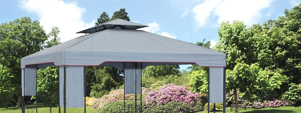 Stelaż pawilonu ogordowego z dachem
