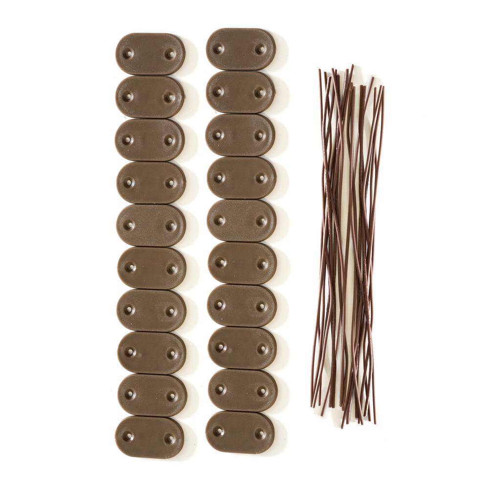 Zestaw elementów mocujących do mat PVC, Brązowy