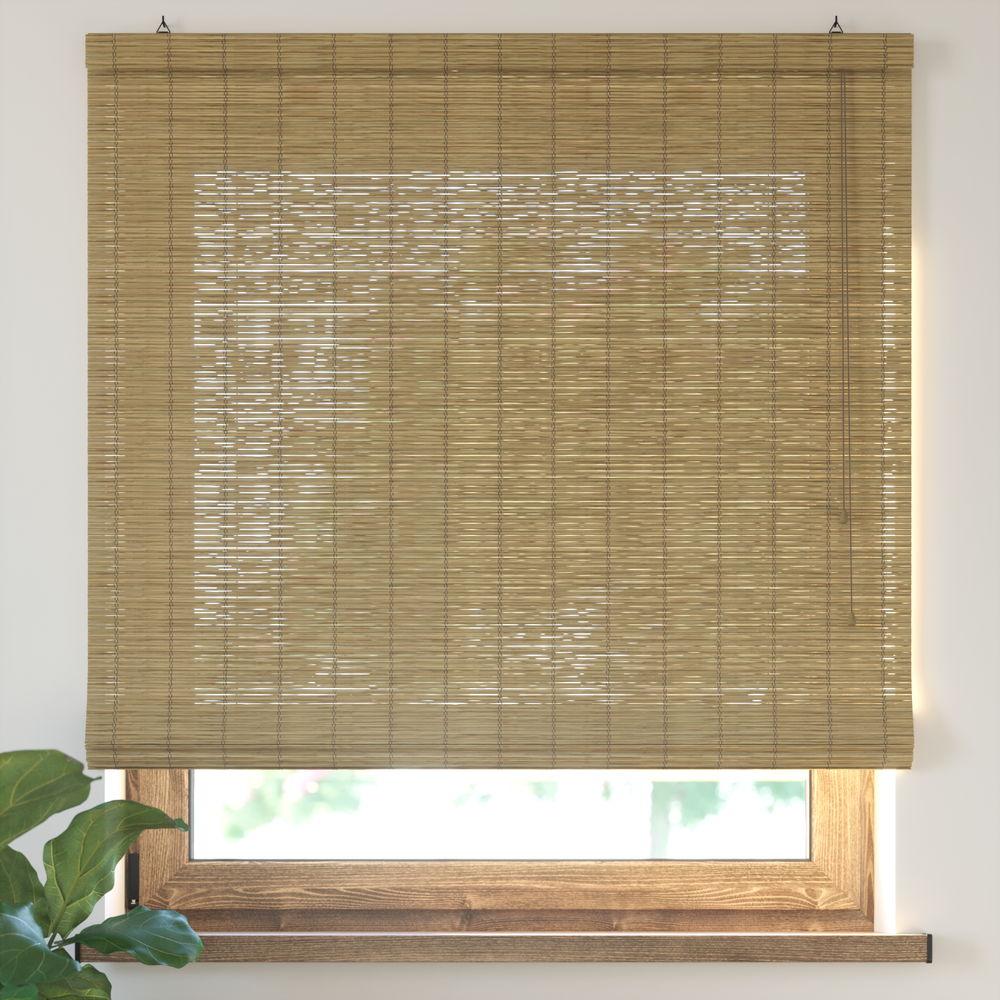 Roleta bambusowa rzymska, Gotowa, Brązowy