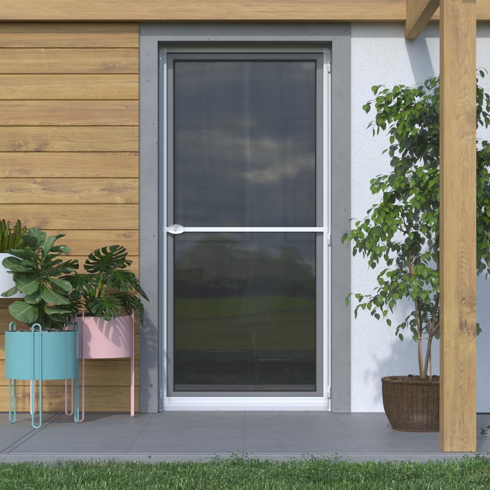 Moskitiera drzwiowa, Na zawiasach 120x220 cm, Gotowa, Biały