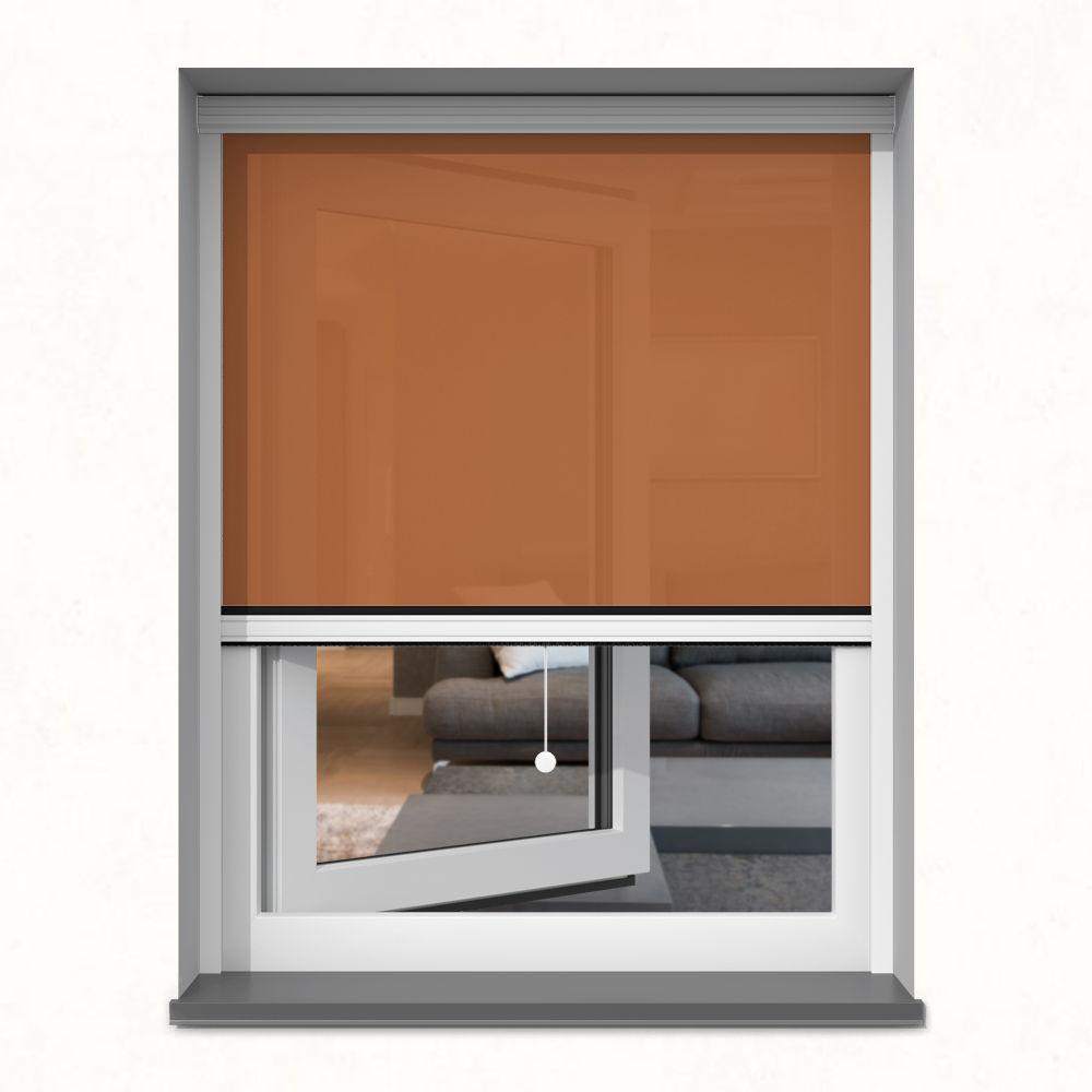Roleta okienna screen, W kasecie, Na wymiar, Ochra
