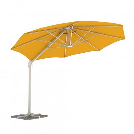 Parasol Na Wysięgniku, Okrągły, 3,5 m, Żółty