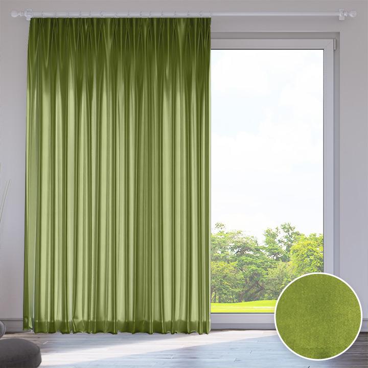 Zasłona, Przyciemniająca, Na wymiar, Standard, Zielony groszek