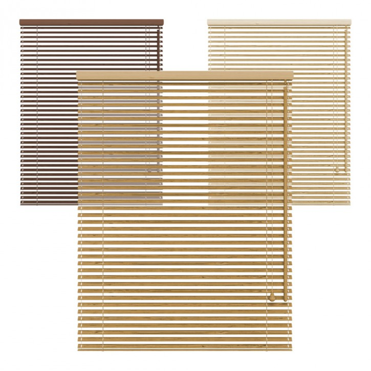 Żaluzja bambusowa, 25 mm, Na wymiar