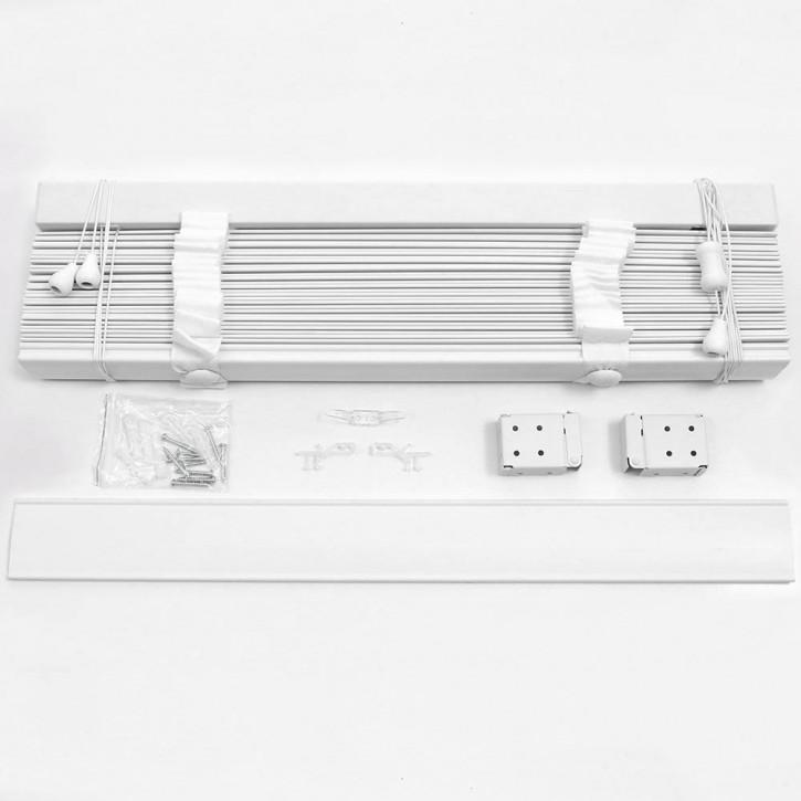 Żaluzja Drewniana Biała 50mm z Białą Taśmą, Promocja