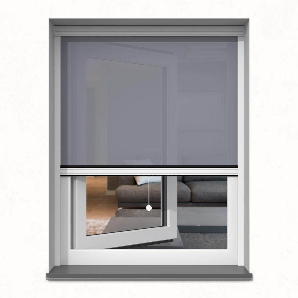 Roleta okienna screen, W kasecie, Na wymiar, Bazalt