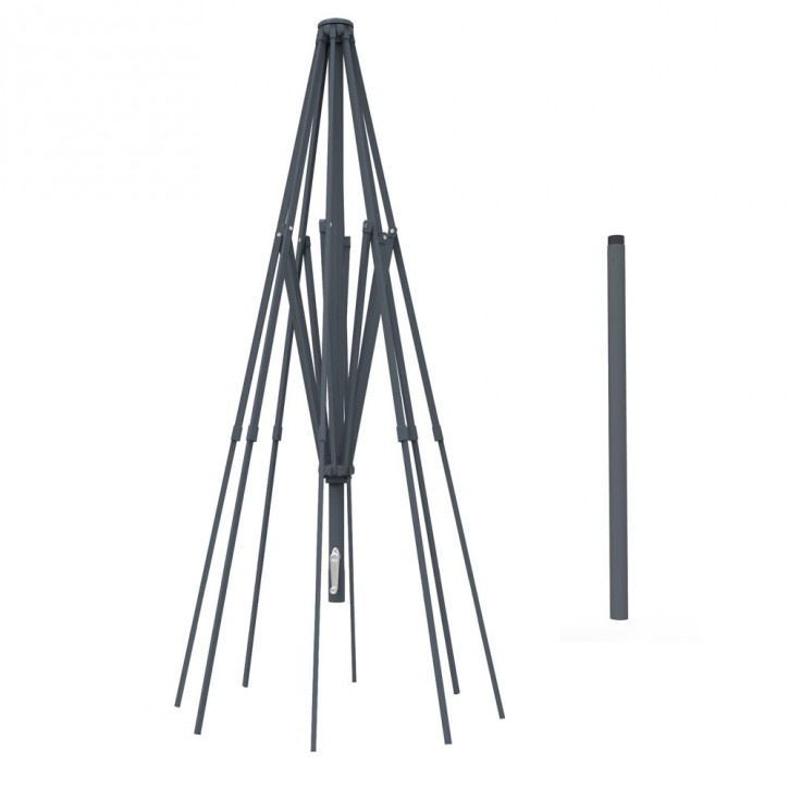 Stelaż aluminiowy do okrągłego parasola ogrodowego paragrandi 5 m, Promocja