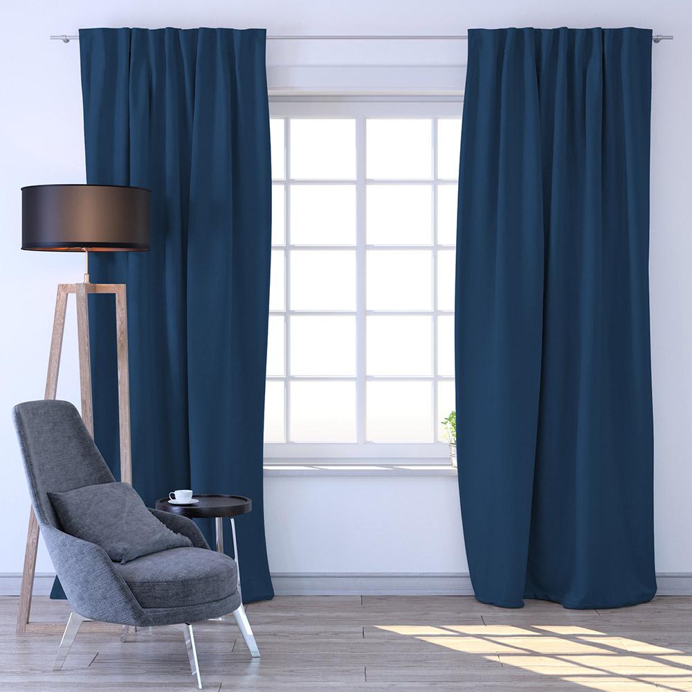 Zasłona, Zaciemniająca, Gotowa, 140x245 cm, Niebieski