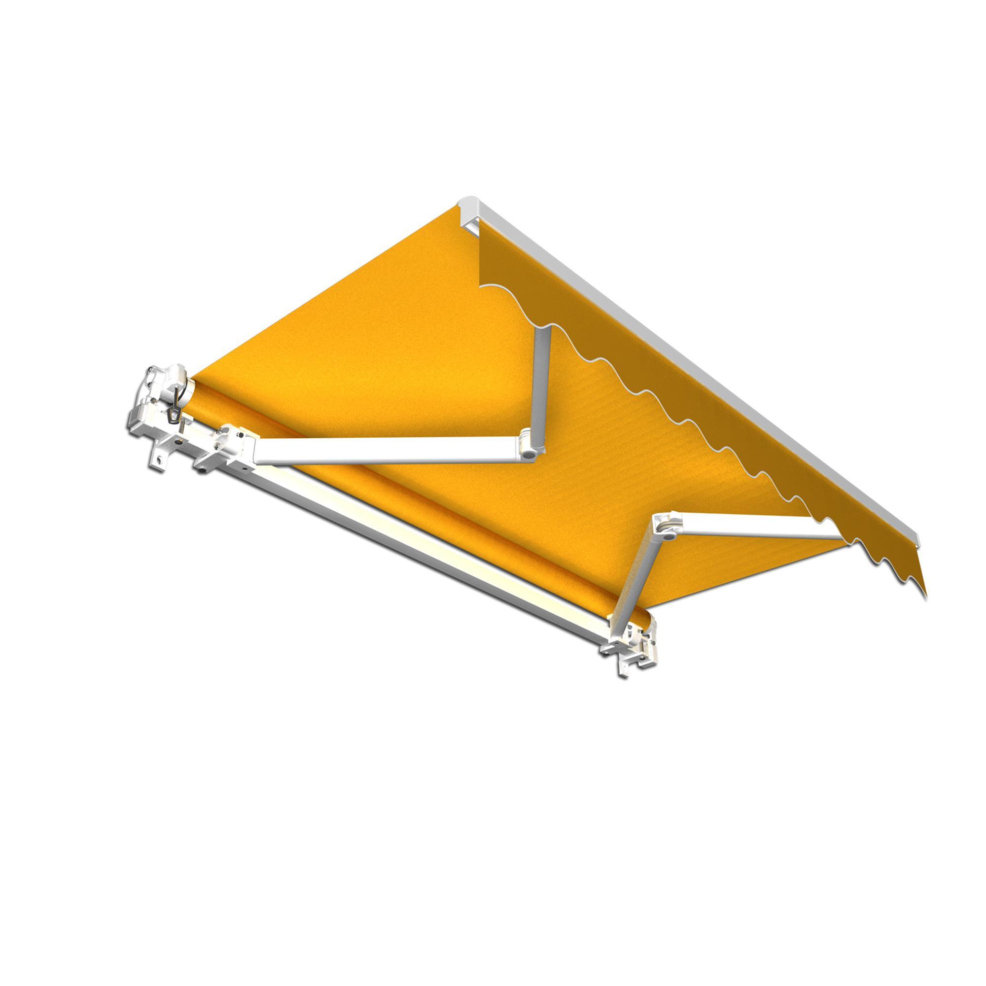 Markiza tarasowa, Gotowa, BASIC, żółta, 350x300 cm