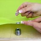 Podgląd: Zestaw do nitowania: zakuwak i wycinak do oczek + 10 nitów
