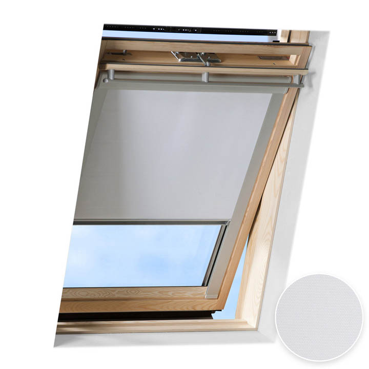 Roleta do okien dachowych Velux, Zaciemniająca, Biały