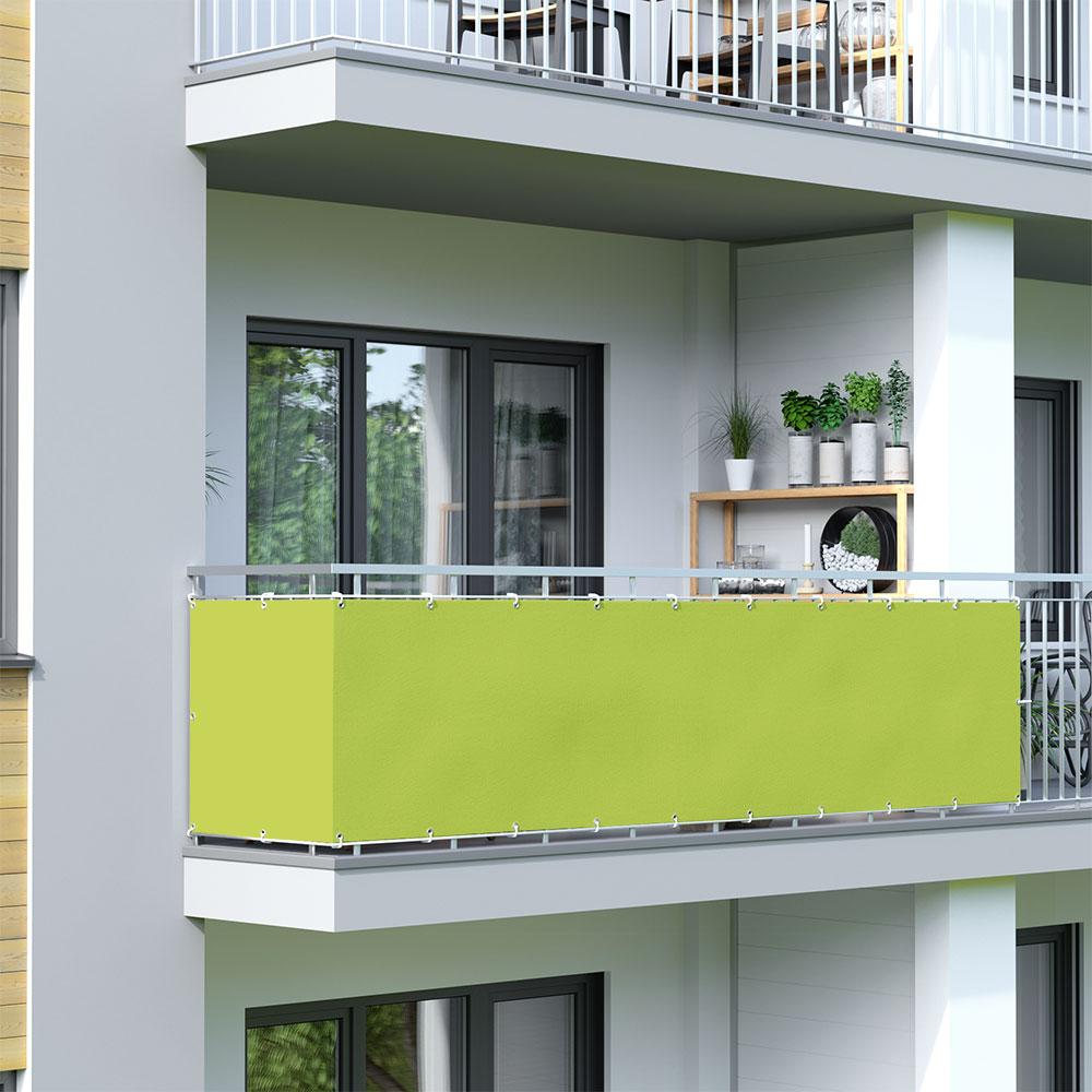 Osłona balkonowa Basic, wodoodporna, Jasnozielony