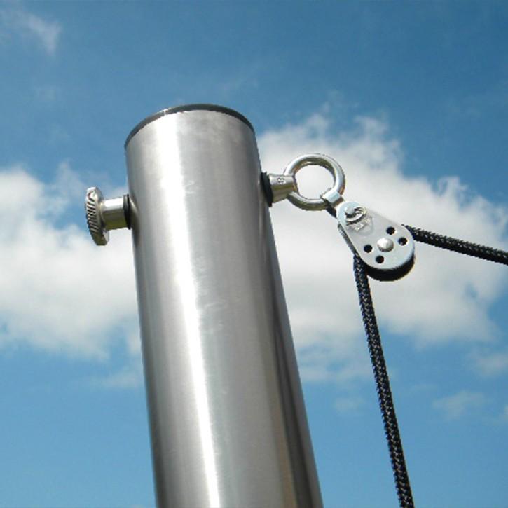 Maszt z regulacją wysokości do żagli przeciwsłonecznych