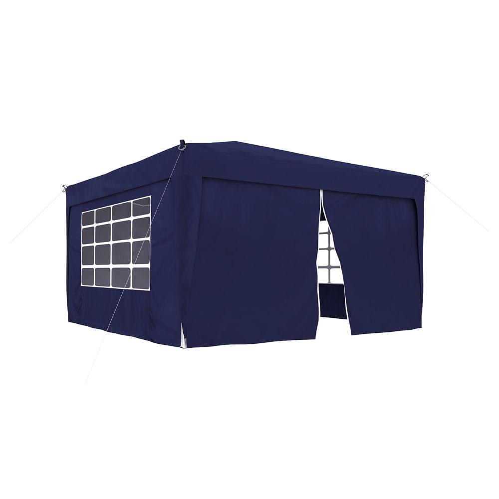 Ścianka z zamkiem do pawilonów ogrodowych Premium i Basic, 295x195 cm, Niebieski