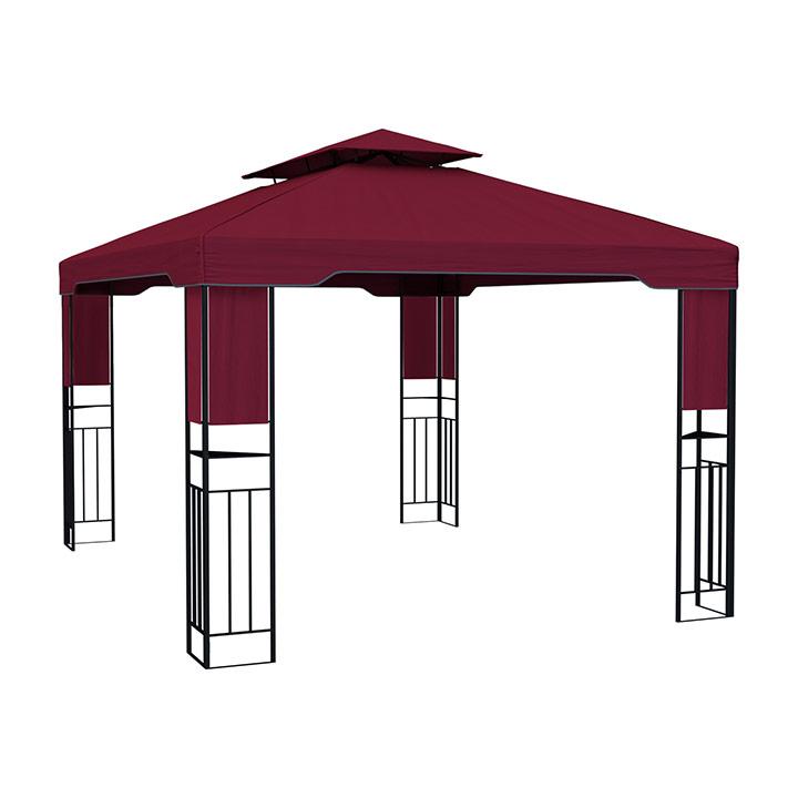 Pawilon ogrodowy Deluxe, 3x4 m, Bordowy