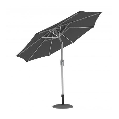 Parasol Ogrodowy, Okrągły, 3,5 m, Szary