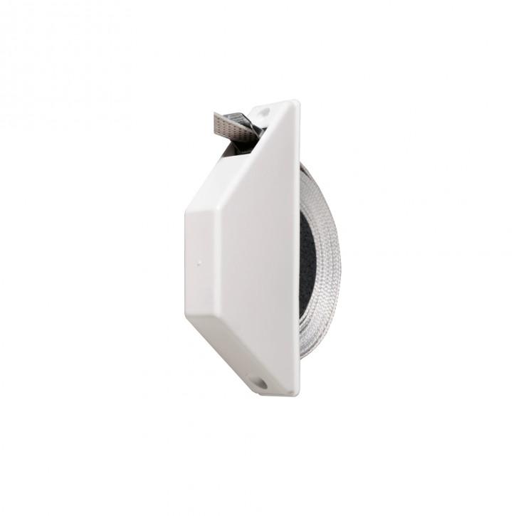 Miniaturowy zwijacz natynkowo-podtynkowy, z taśmą o dł. 5 m