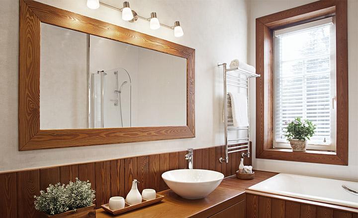 Żaluzje drewniane do łazienki