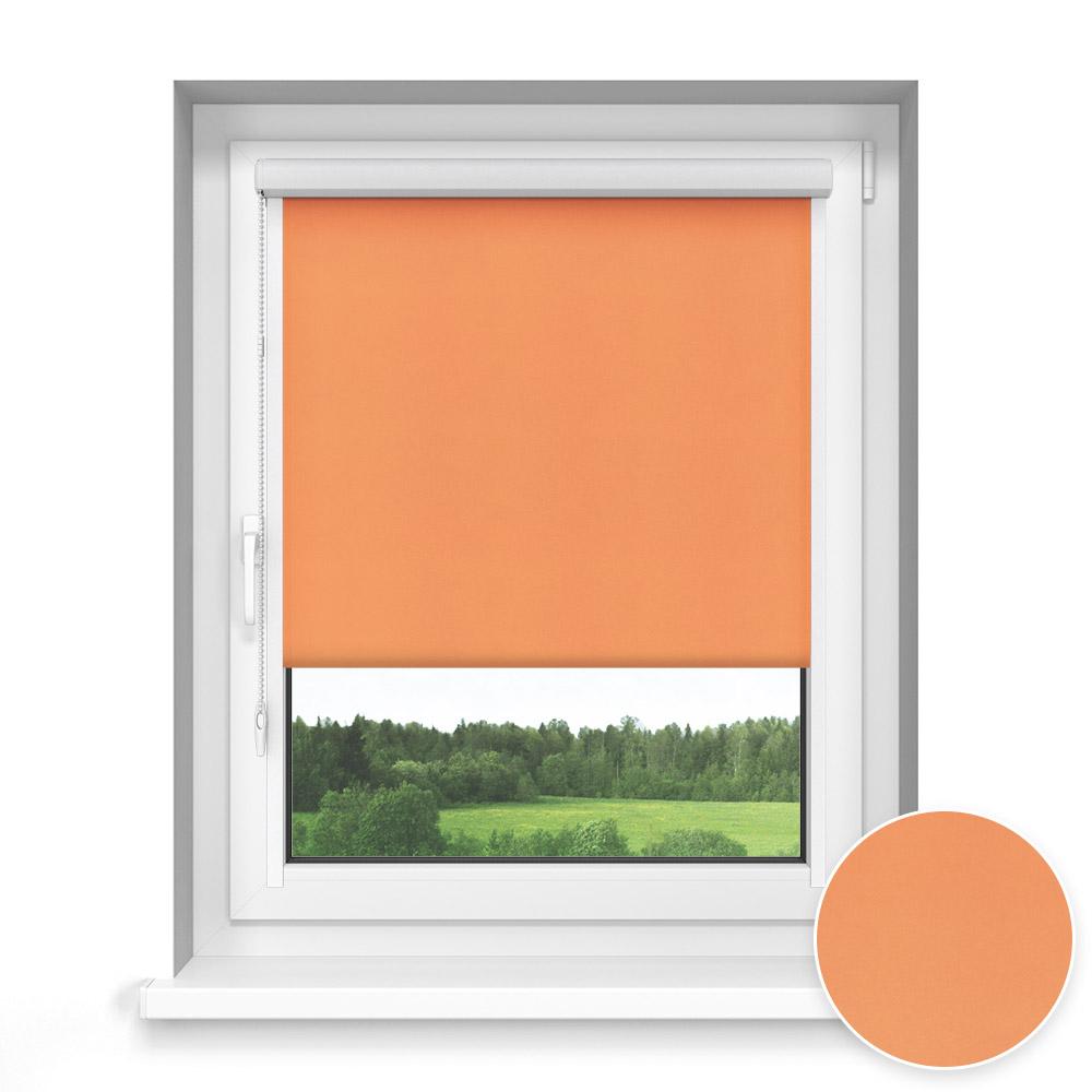 Roleta materiałowa w kasecie, Przyciemniająca, Na wymiar, STANDARD, Pomarańczowy