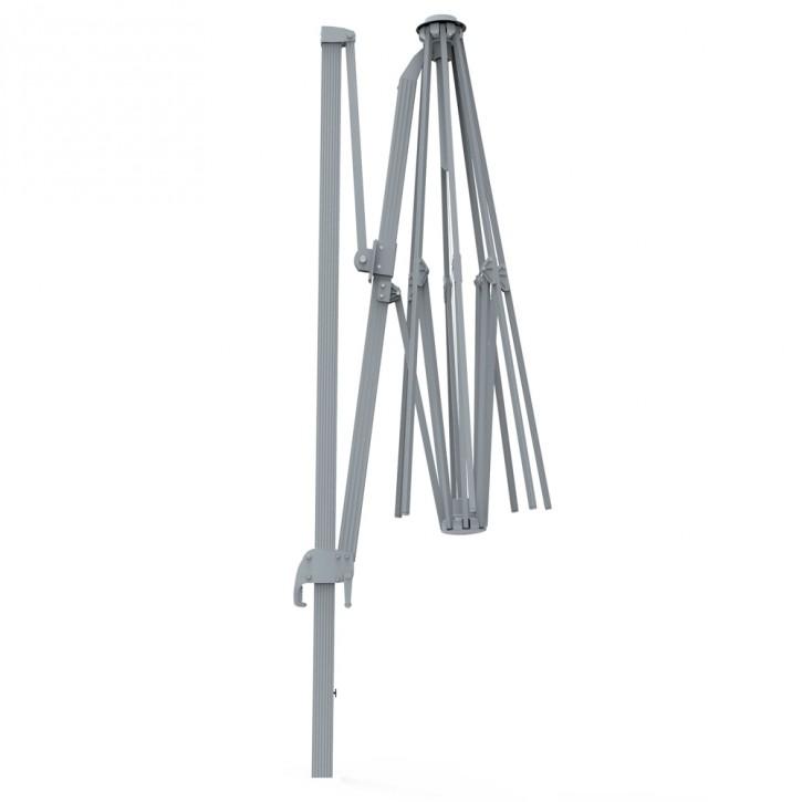 Stelaż aluminiowy do okrągłego parasola na wysięgniku parapenda 3,5m