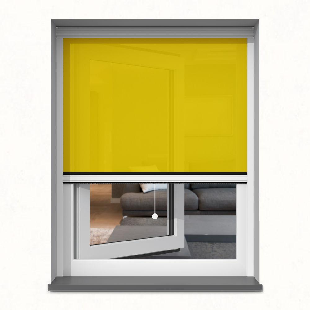 Roleta okienna screen, W kasecie, Na wymiar, Słonecznik
