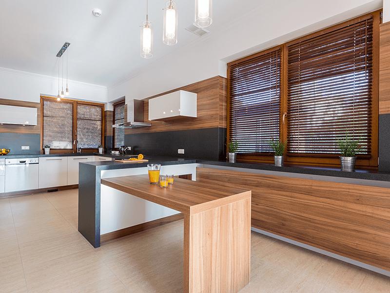 Żaluzje drewniane do kuchni