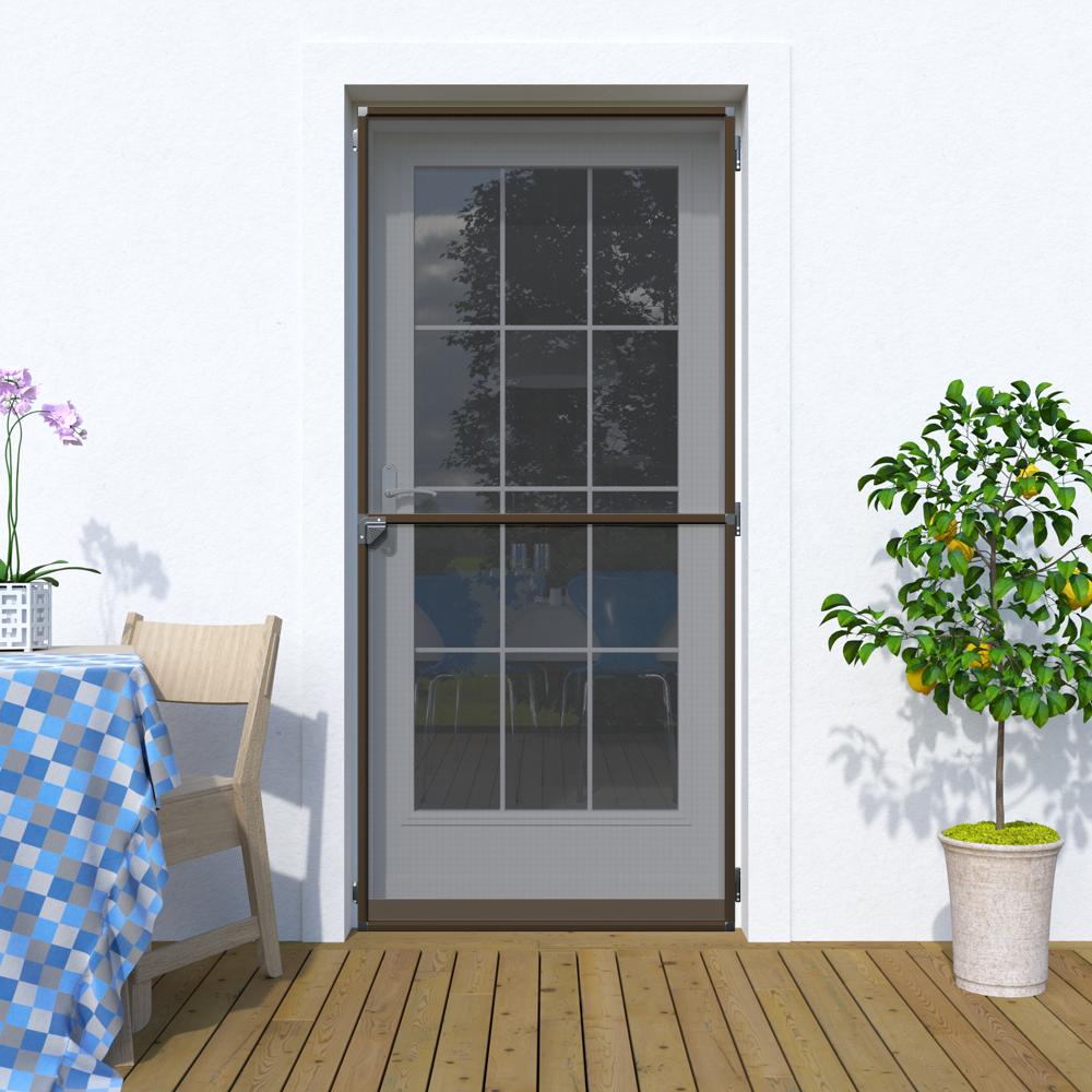 Moskitiera drzwiowa, Na zawiasach 120x220 cm, Gotowa, Brązowy