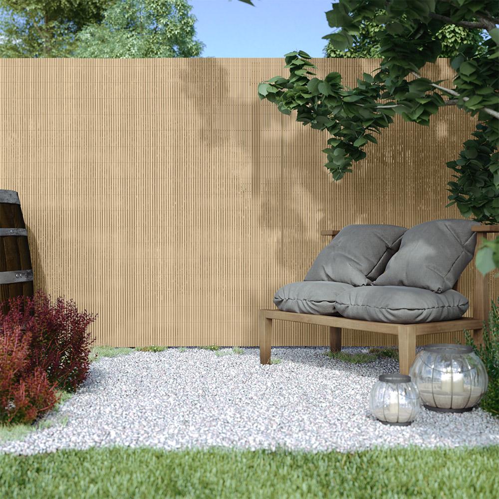 Płotek ogrodowy PVC Standard, szer. listwy 13 mm, Bambus