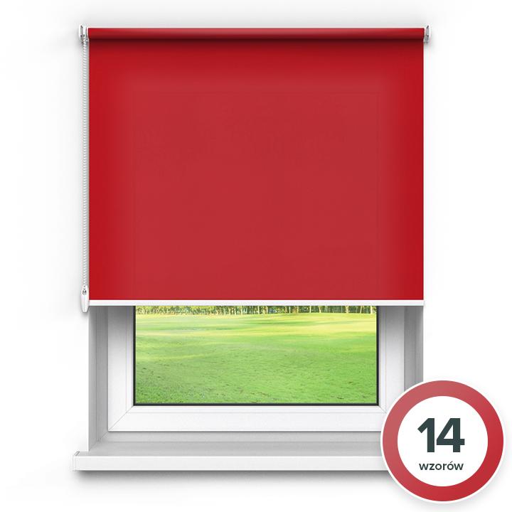 Rolety materiałowe wolnowiszące, Przyciemniające, Na wymiar, PREMIUM, Czerwony