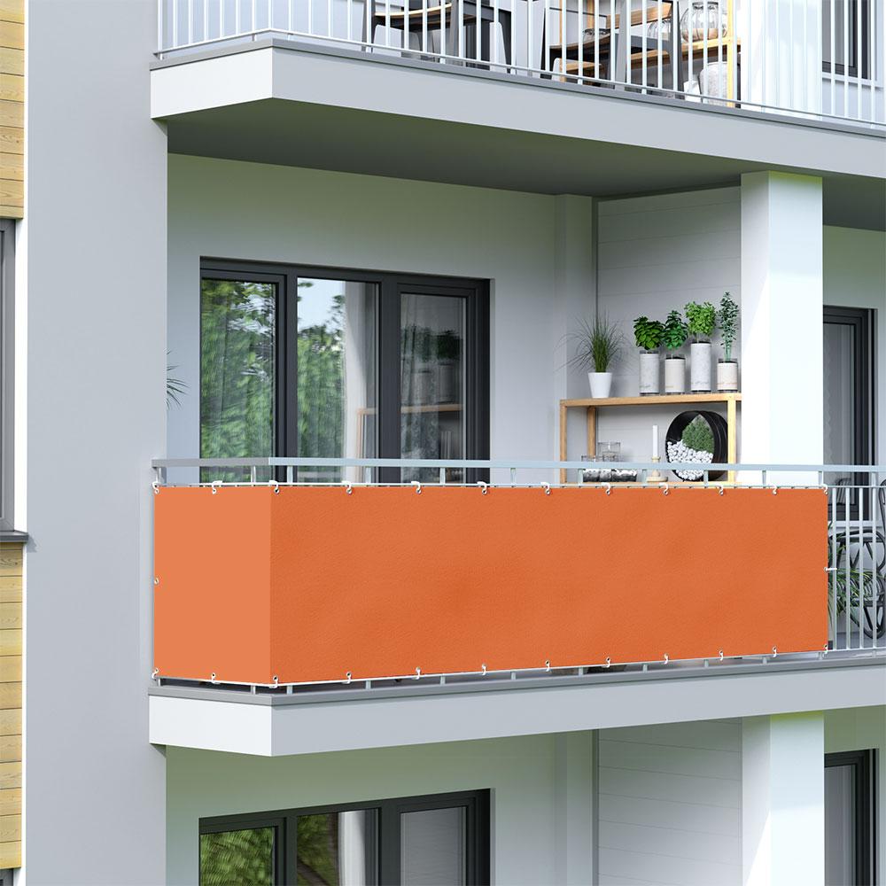 Osłona balkonowa Basic, wodoodporna, Pomarańczowy