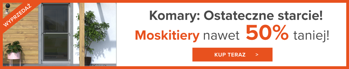 Mosktiery do 50% taniej!