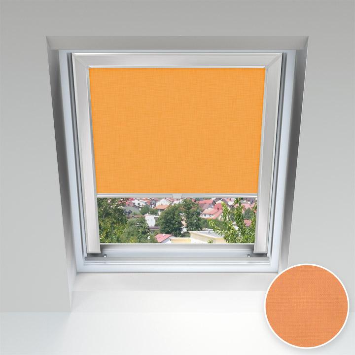 Roleta dachowa z prowadnicami, na wymiar, Pomarańczowy