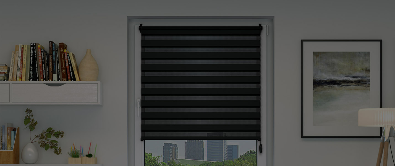 double store enrouleur sans per age montage avec clips porte fen tre jour nuit ebay. Black Bedroom Furniture Sets. Home Design Ideas