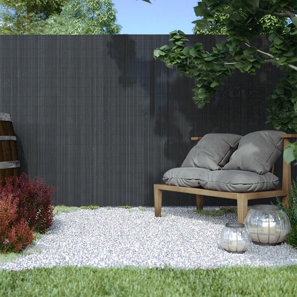 Płotek ogrodowy PVC Standard, szer. listwy 13 mm, Szary