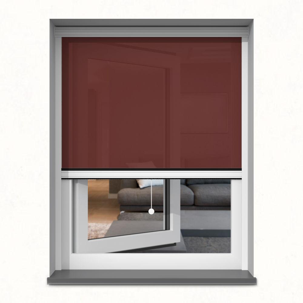 Roleta okienna screen, W kasecie, Na wymiar, Wiśnia